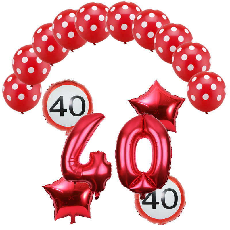 16 Pcs/set 32 Inci Nomor 18 30 40 50 60th Hari Ulang Tahun Balon Globos Cumpleanos Infantiles Dekorasi Pesta Ulang Tahun Adul balon