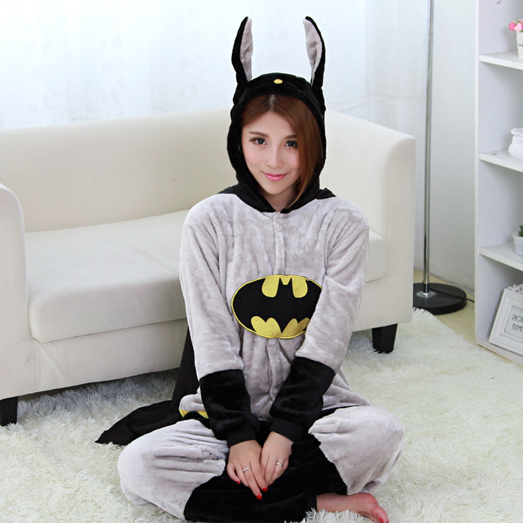 Superhero Bat Costume Unisex Onesies Sleepwear Pajama For Deguisement Disfraces Carnaval Halloween Christmas Hero Costumes