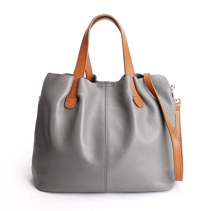 High Quality Bag Women Genuine Leather Handbags Ladies Casual Handbags Bucket Shoulder Bags Women Crossbody Bags high quality women s bucket shoulder bags genuine leather handbags soft large capacity casual crossbody bag lady bolsas feminina