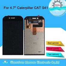 """4.7 """"oryginalna M & Sen dla Caterpillar CAT S41 ekran wyświetlacz LCD + digitizer panel dotykowy dla kota S41 montażu wyświetlacz LCD"""