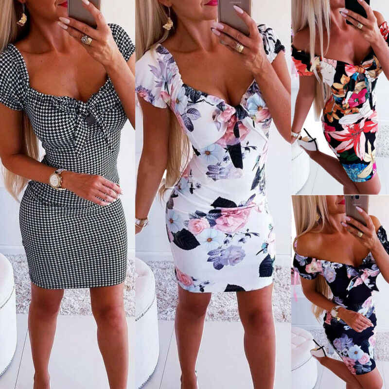 Hot Sexy Vrouwen Jurk Bandage Bodycon Dames Casual Korte Mouw Sexy Club Party Dress Schede Korte Mini Jurk Meisjes