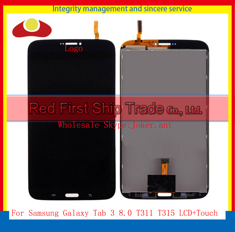 Original For Samsung Galaxy Tab 3 8.0 T311 T315 Touch Screen Sensor Digitizer+Full LCD Display Assembly Complete White and Black white 8inch for samsung for galaxy tab 3 sm t310 t310 lcd display screen touch digitizer sensor full assembly tablet pc