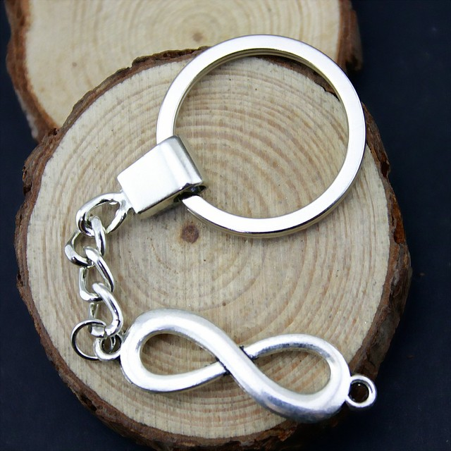 Infinity Symbol Connection Keychain Souvenirs Key Holder Wedding Gifts For Guest Party Favors Festive Supplies