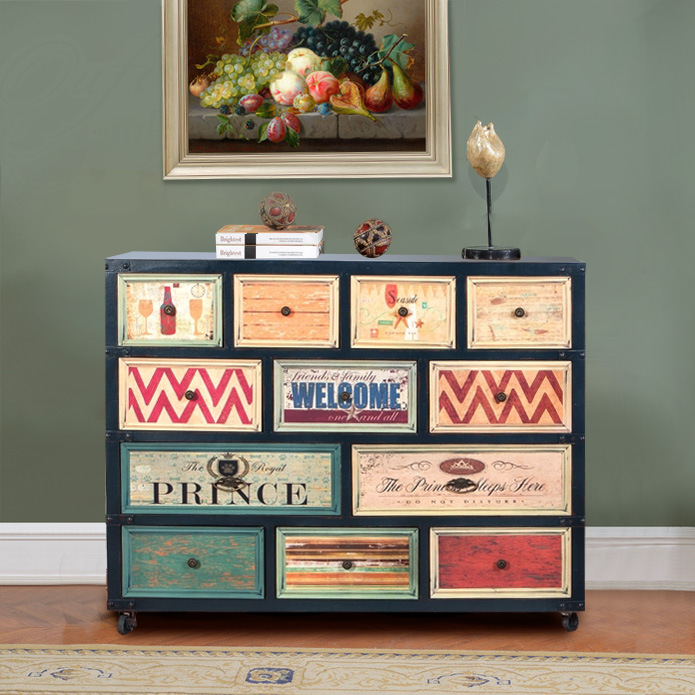 Cabinet European Retro Chest Drawers