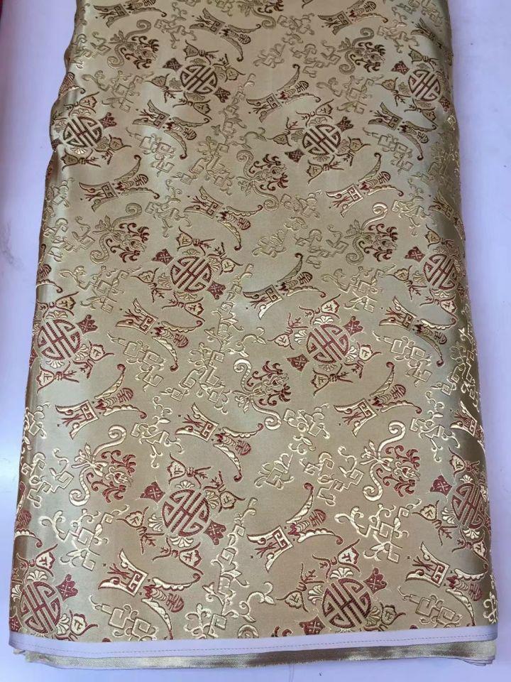 8 Meters/pc offre spéciale rouge coton africain tissu et or phoenix motif broderie suisse voile dentelle pour vêtements JC21-3 - 4