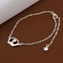 Fashion new style silver charm anklet.wholesale 925 jewelry silver plated foot anklet jewelry.Free shipping A019