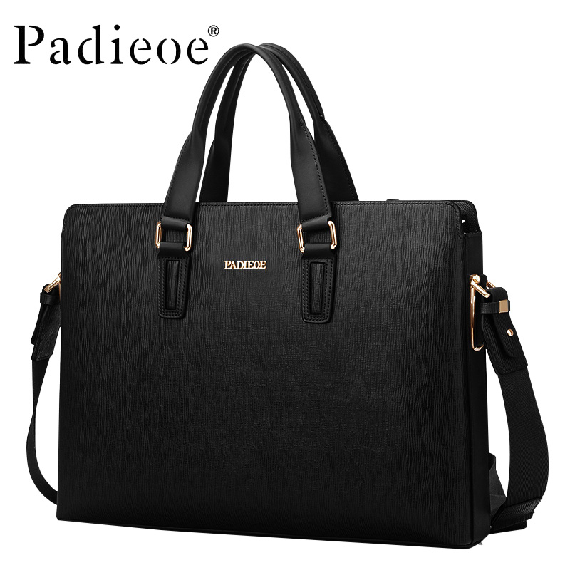 100% naturlig ko läder mäns brevbärare väska läder mäns portfölj väska mode svart blå väska handväska män mapp