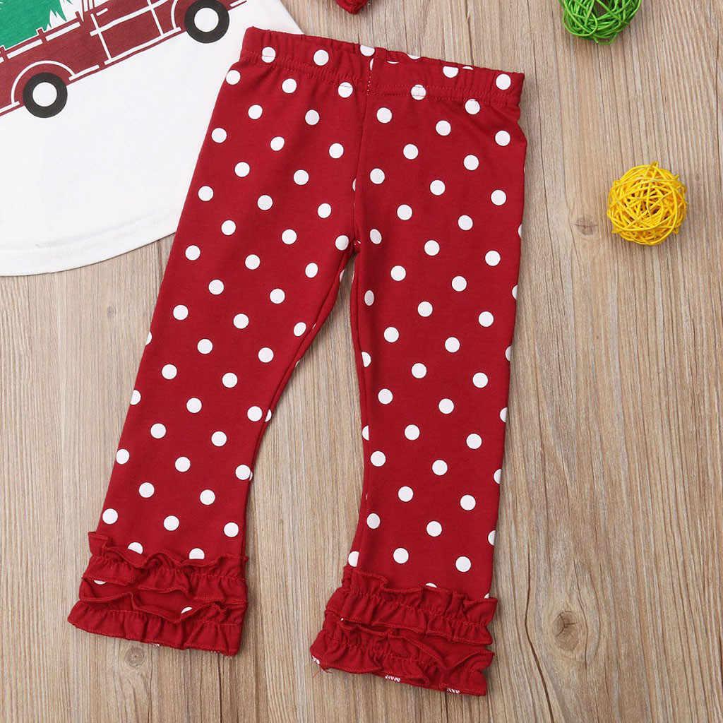 เด็กทารกคริสต์มาสผู้หญิงเสื้อ Ruffles กางเกงชุดเสื้อผ้าคริสต์มาสชุดเด็ก boutique ชุดคริสต์มาสชุดเด็ก