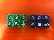 "The 6 corner number 16MM dice dungeons and Dragons D6 dice game screen "" 6 literally into LOGO """