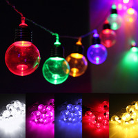 10M 20 LED String Light Globe Ball Bulbs Night Lamp Outdoor Clear Multicolor Chirstmas Wedding Party Decor Led Fairy Lighting
