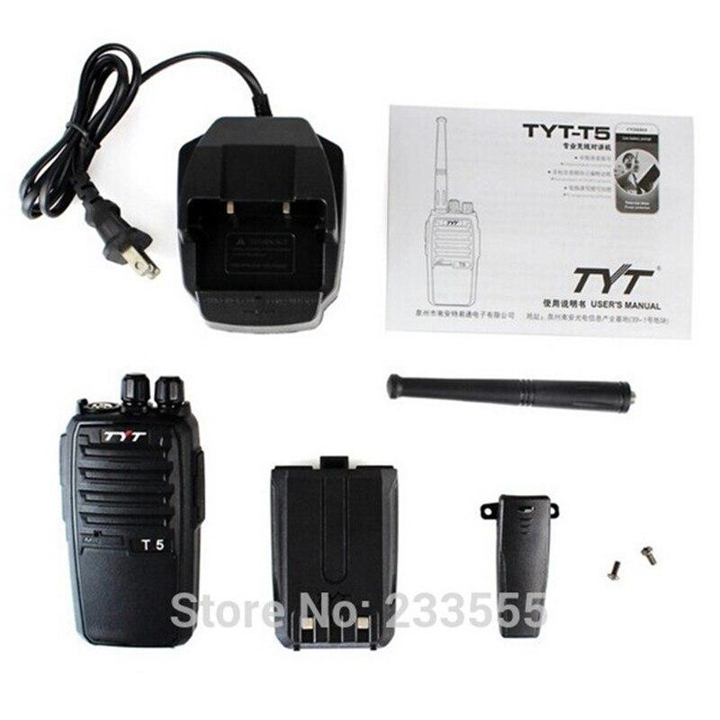 imágenes para 10 unids NUEVA Radio TYT-T5 Talike Walike UHF 400-520 MHz 16CH 5 W Radio de Dos Vías