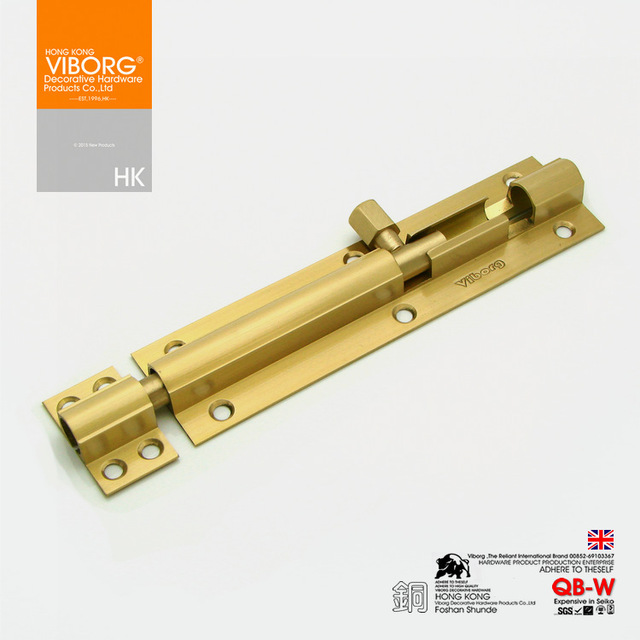 Viborg Luxury 25cm 10 Heavy Duty Solid Brass Door Security Guard