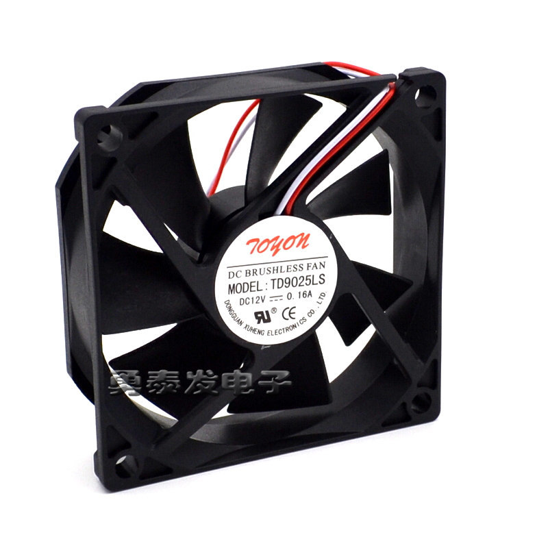 1PC TONON 9025 TD9025LS DC12V 0.16A 9CM 2-wire hydraulic silent cooling fan