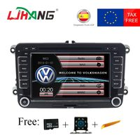 LJHANG 7 Авто аудио автомобиля dvd плеер для VW Passat B6 Jetta VW T5 Tiguan Octavia Fabia SEAT Leon гольф gps рулевое колесо Управление