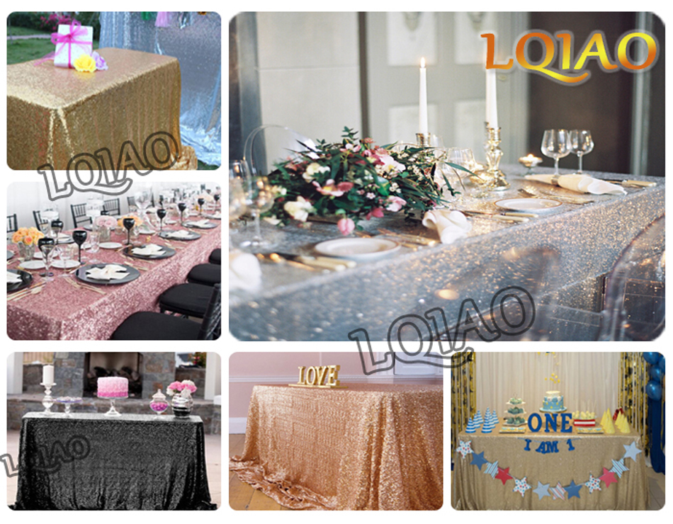 Rectangle Sequin Tablecloth-001