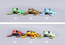 pvc 4cm Animal model frog set 6pcs/set toy gift for collection