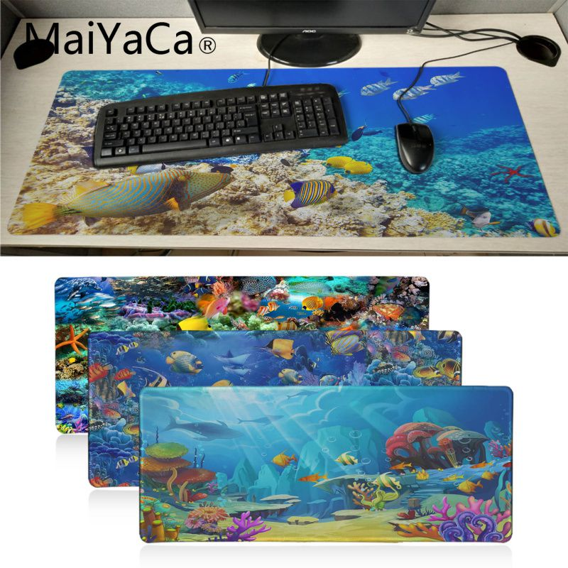Computer & Office Mouse Pads Maiyaca Deck Chairs On The Beach Natural Rubber Gaming Mousepad Desk Mat Hot Selling Fashion Design Mouse Mat Gaming
