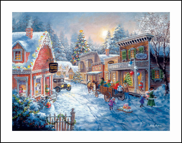 Town on christmas diamond embroidery 5d painting cross stitch mosaic attention our diamond painting is without frame and it is not a finished painting you need to finish it yourself solutioingenieria Gallery