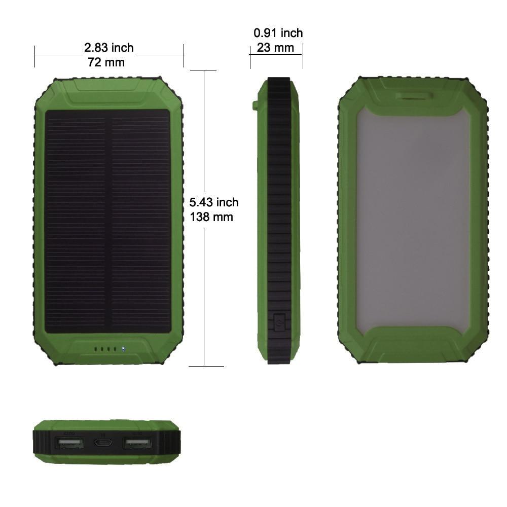 PowerGreen Solar Charger Emergency Battery Backup 10000mah Dual - Reservdelar och tillbehör för mobiltelefoner - Foto 2