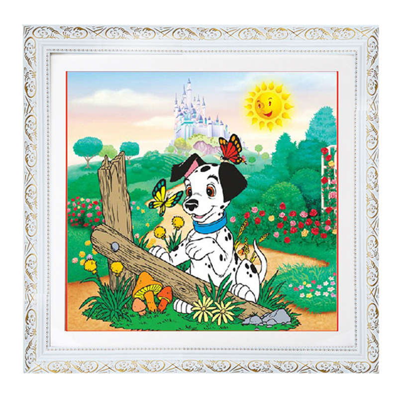 DIY Handmade Diamond Painting Naughty Puppy Size35X35CM Square Embroidery Full Resin Diamond Embroidery Child Bedroom Decoration