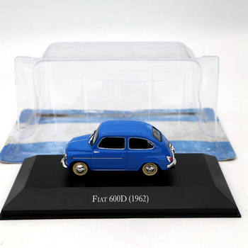 IXO 1:43 For Fiat 600D 1962 Blue Diecast Models Limited Edition Collection Toys Car image