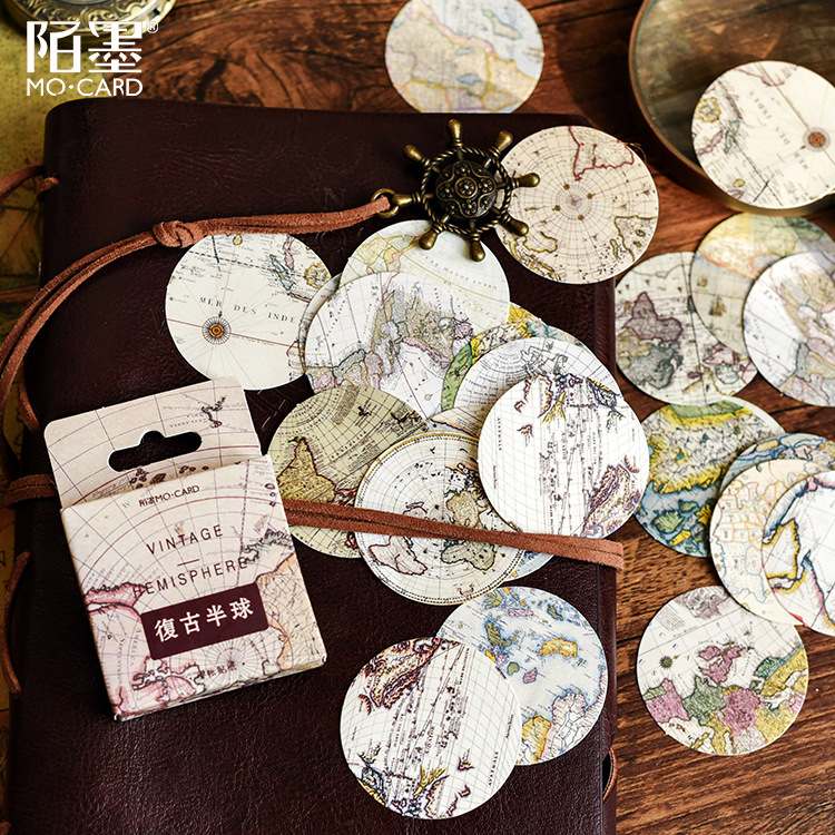 46 Pcs/box Beautiful Hemisphere Sticker Paper Decoration Sticker Diy Handmade Diary Album Scrapbooking Sticker Kawaii Stationery