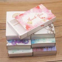 11.5*8*2CM Kraft gifts display box paper Dreamcatcher/Marbel necklace/earring set Diy Thank you Jewelry package