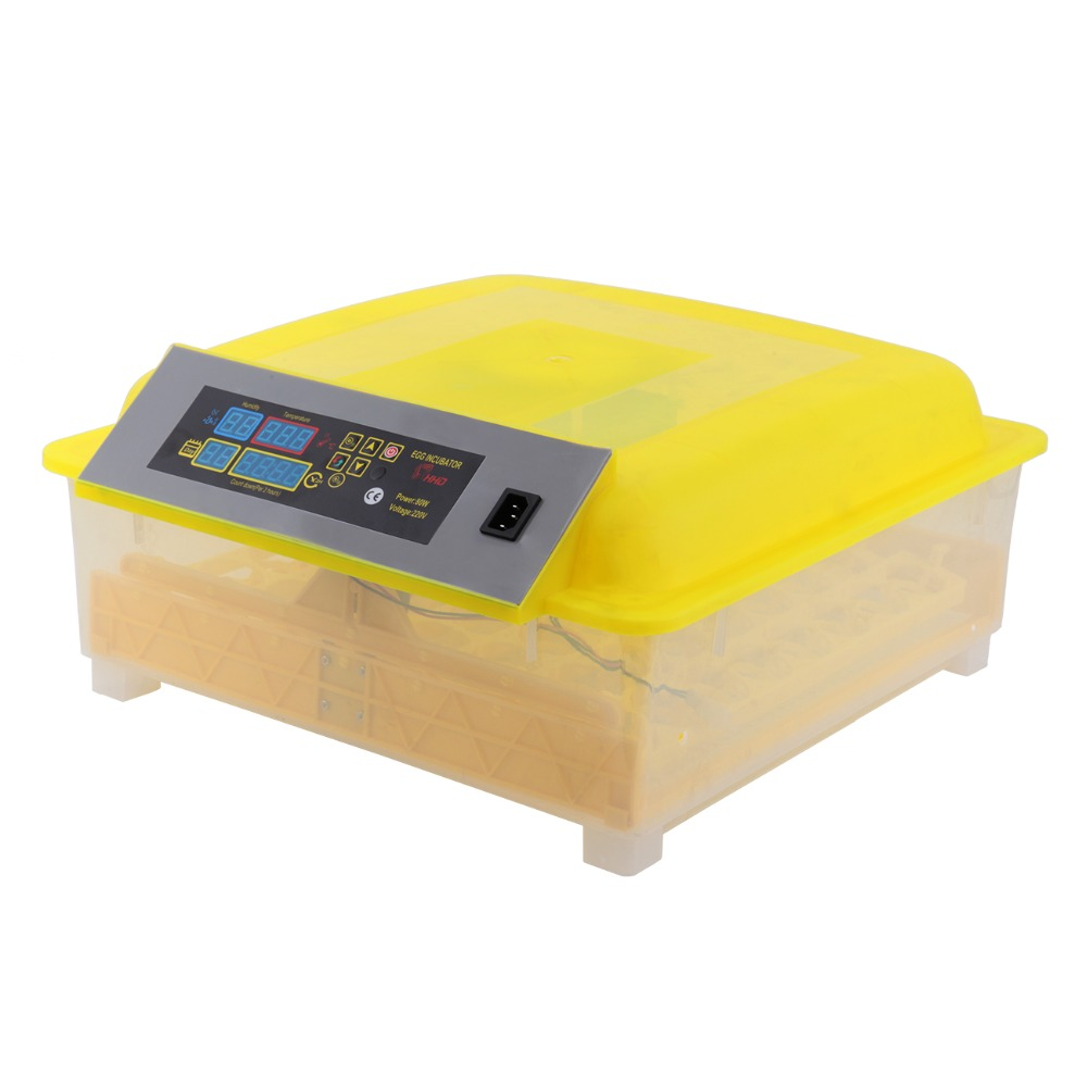 Automatic 56 Eggs Incubator Poultry Hatcher Egg tester Chicken Birds Quail Incubator