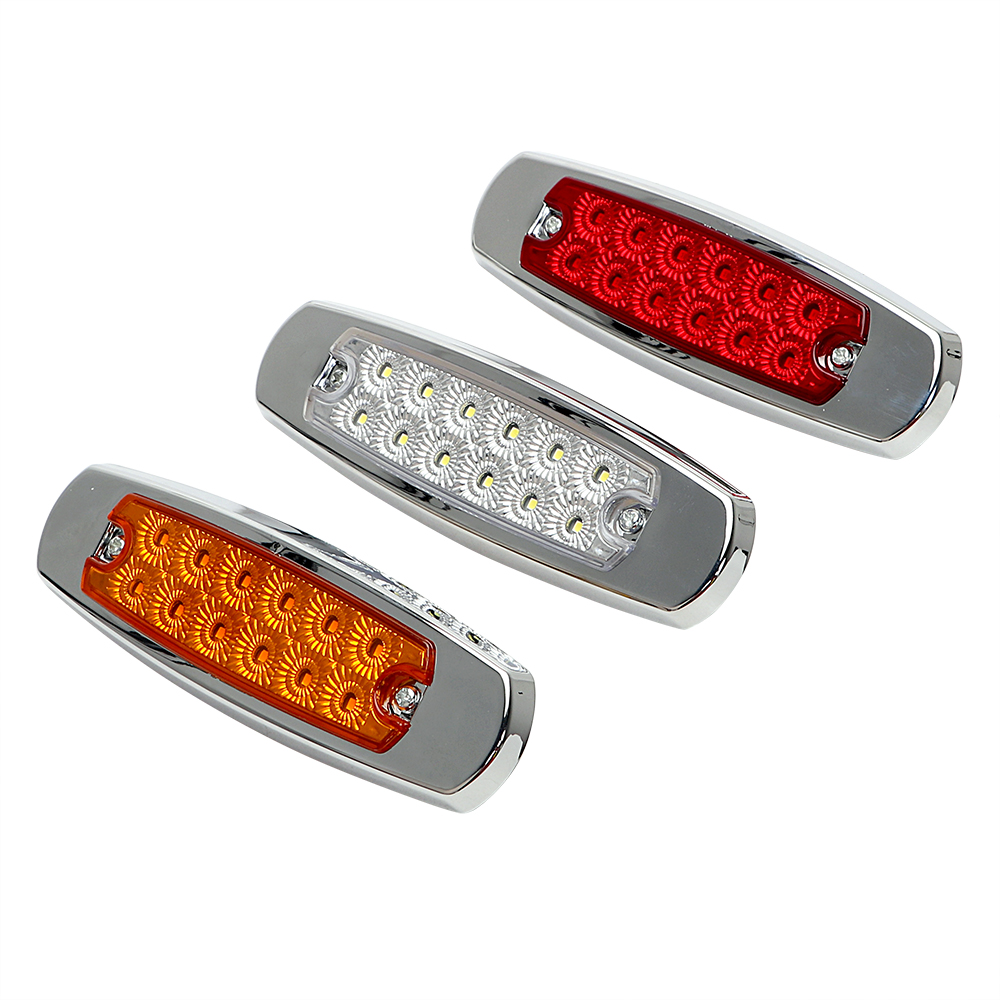 1 Pair 24v 12v Amber LED Side Marker Lights for Trucks Side Clearance Marker Light Clearance Lamp 12V Red White for Trailer люстра накладная 06 2484 0333 24 gold amber and white crystal n light