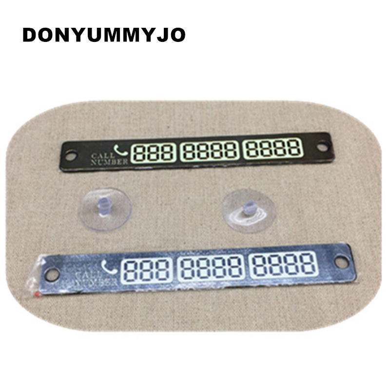 Wholesale Temporary Parking Card Luminous Phone Number Card Plate For VW AUDI Toyota Nissan Honda Peugeot BMW car styling