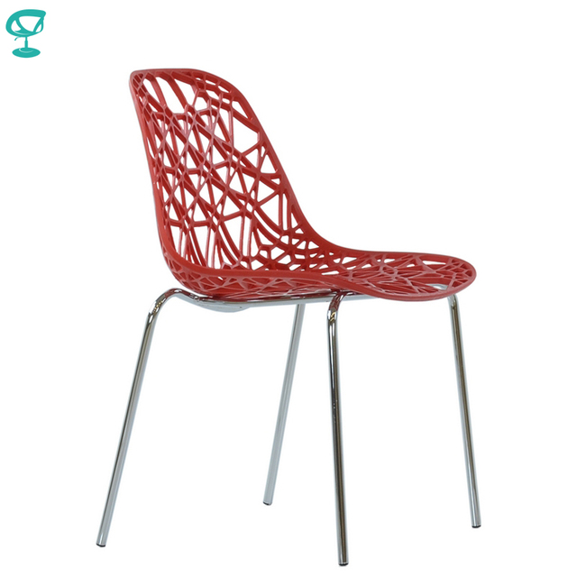 95291 Barneo N-225 Plastic Kitchen Interior Stool Chair for a Street Cafe Chair Kitchen Furniture Red free shipping in Russia