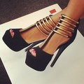 Fashion Gladiator Women's Stiletto Heels Platform Sandals Big Size