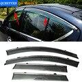 Stylingg Toldos Abrigos 4 pçs/lote Viseiras Da Janela do carro Para Mazda 8 2011-2016 Sol Chuva Escudo Adesivos Covers