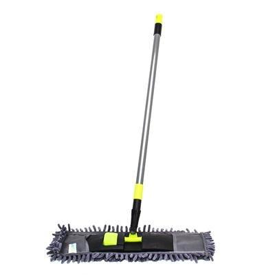 Швабра с выдвижной ручкой и тряпка из микрофибры для чистки и уборки дома