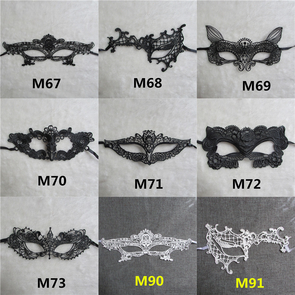 Wholesale white/black A variety of shapes <font><b>sexy</b></font> <font><b>lace</b></font> <font><b>Mask</b></font> <font><b>Halloween</b></font> Masquerade Pictorial photography <font><b>Mask</b></font> image