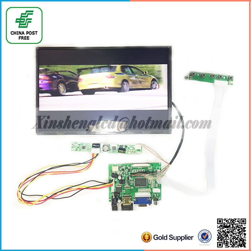 HDMI+2AV+VGA+Rear View Driver Board+10.1 inch B101UAN02.1 LCD Display Module 1920*1200 IPS