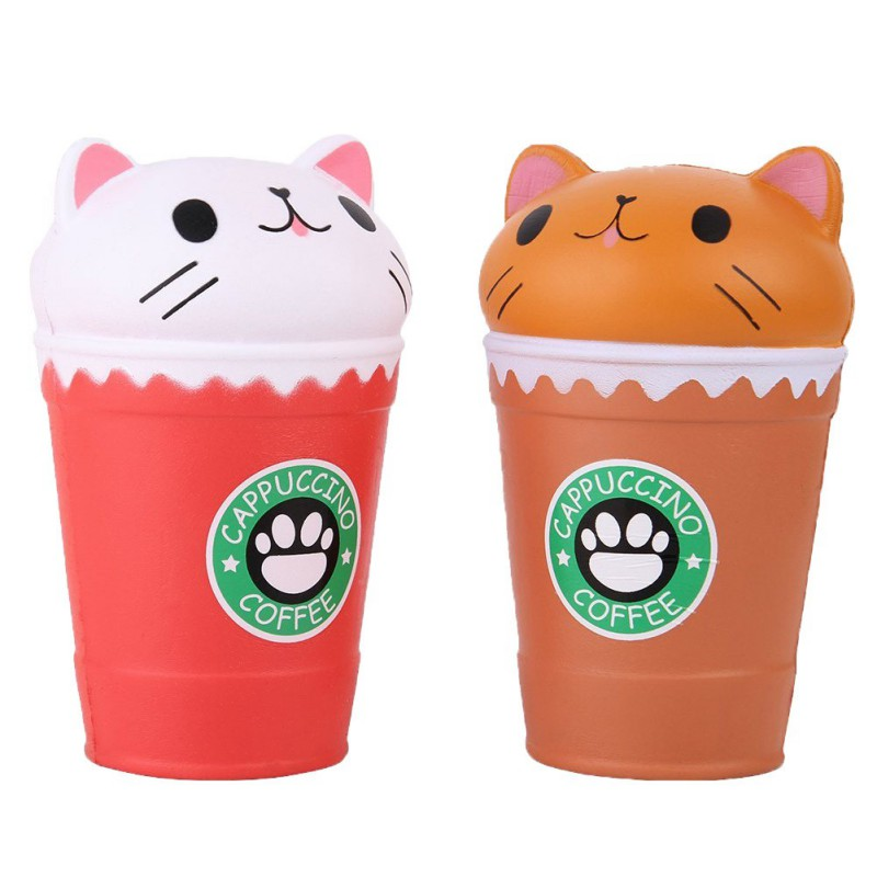 MrY Squeeze Toys Children Mini Slow Rebound Toy Cat Head Coffee Cup Reduce Pressure Prop Decompression Toy For Children