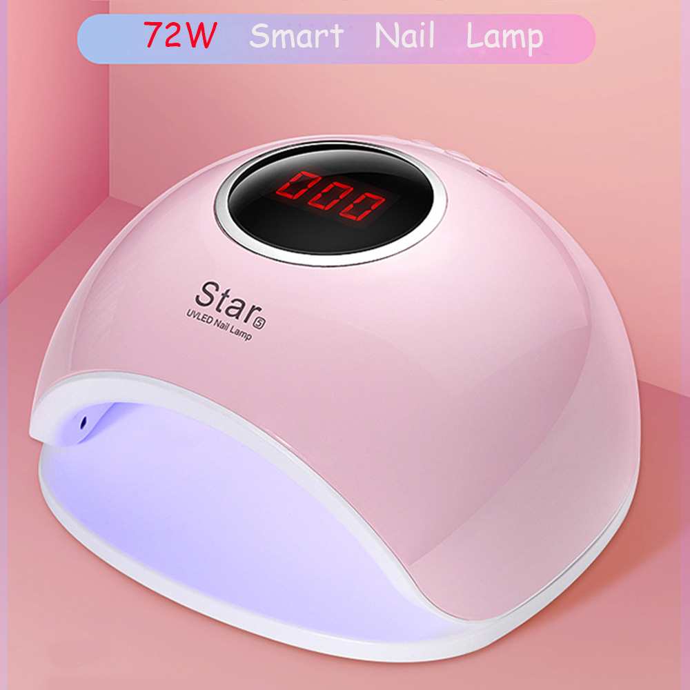 72W Dual UV LED Nail Lamp Nail Dryer For Gel Polish Curing Light with Bottom 30s/60s Timer LCD Display Lamp For Nails Nail Dryer ingshu 48w 24w led uv lamp nail dryer sun light for nail gel polish curing light with bottom 10s 30s 60s timer lcd display tools