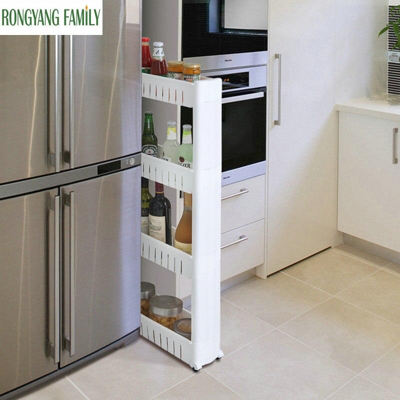 Шт. Новый 1 шт. белый зазор полка для хранения кухня организатор катание подвижные пластик Ванная комната стойки экономит пространство 3 и 4 с...