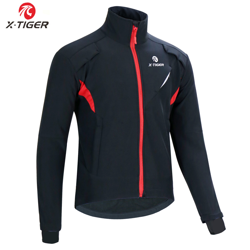 X TIGER Winter Fleece Thermal Cycling Jacket Coat Autumn Warm Up Bicycle Clothing Windproof Windbreaker MTB