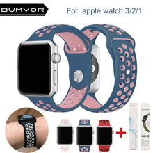 цены Silicone strap for apple watch band 42 44 40 38mm bracelet sport wrist watch belt Rubber watchband for iwatch 4/3/2/1 Nike+metal
