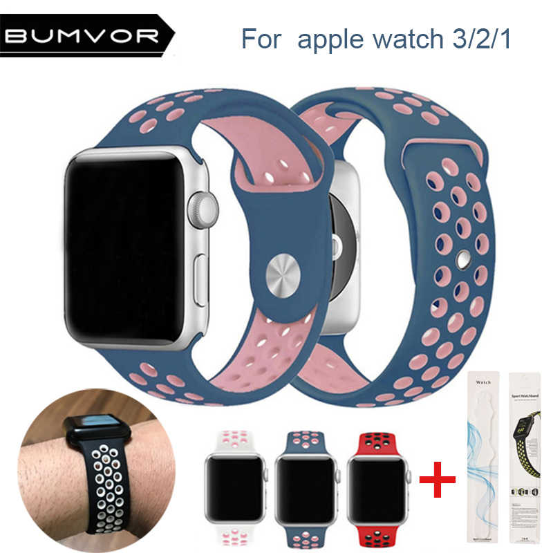 47acd6fbf96 Silicone strap for apple watch band 42 44 40 38mm bracelet sport wrist watch  belt Rubber