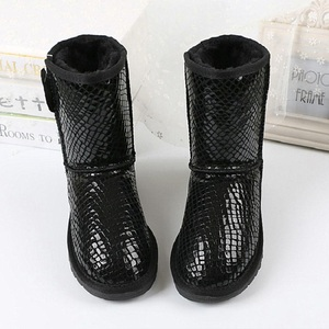 Image 2 - New women boots classic waterproof winter boots australian high quality snow boots genuine leather warm black shoes for woman