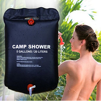 Outdoor Camping Hiking 5 Gallon 20 Litter PVC Solar Shower Bags Solar Energy Heated Camp Portable