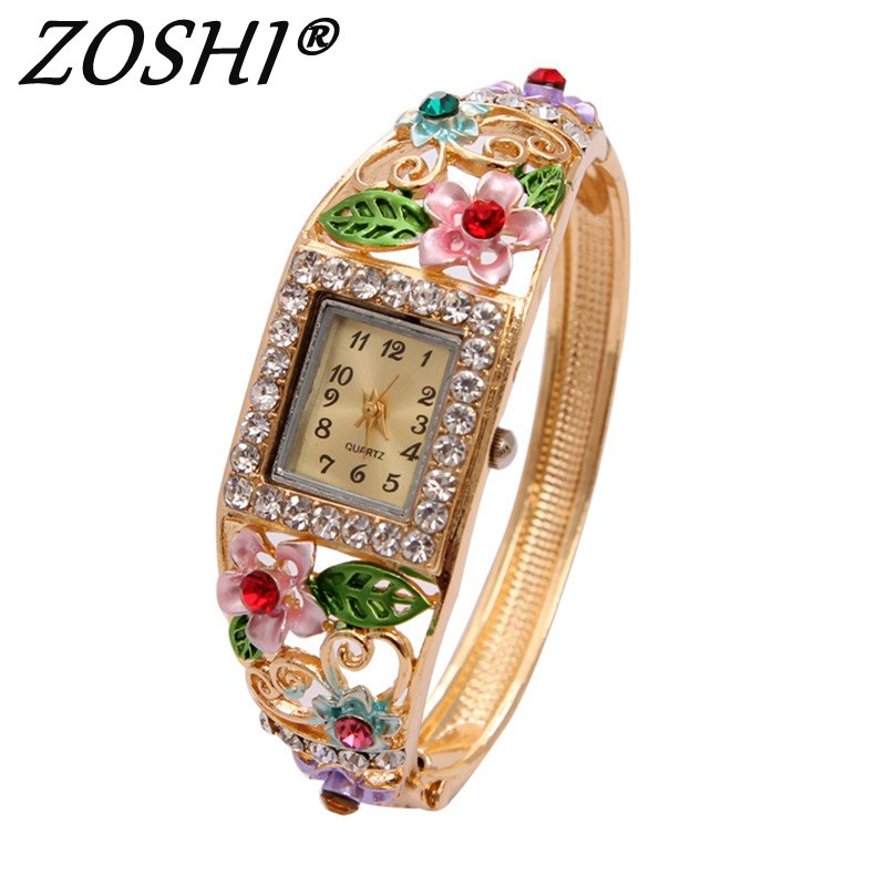 Luxury Brand Fashion Casual Ladies Watch Women Rhinestone Watches Dress Rose Gold Quartz Female Clock Montre Femme Relojes Mujer kingsky brand fashion ladies luxury rectangle quartz wristwatches women famous brand rhinestone watch relojes mujer montre femme