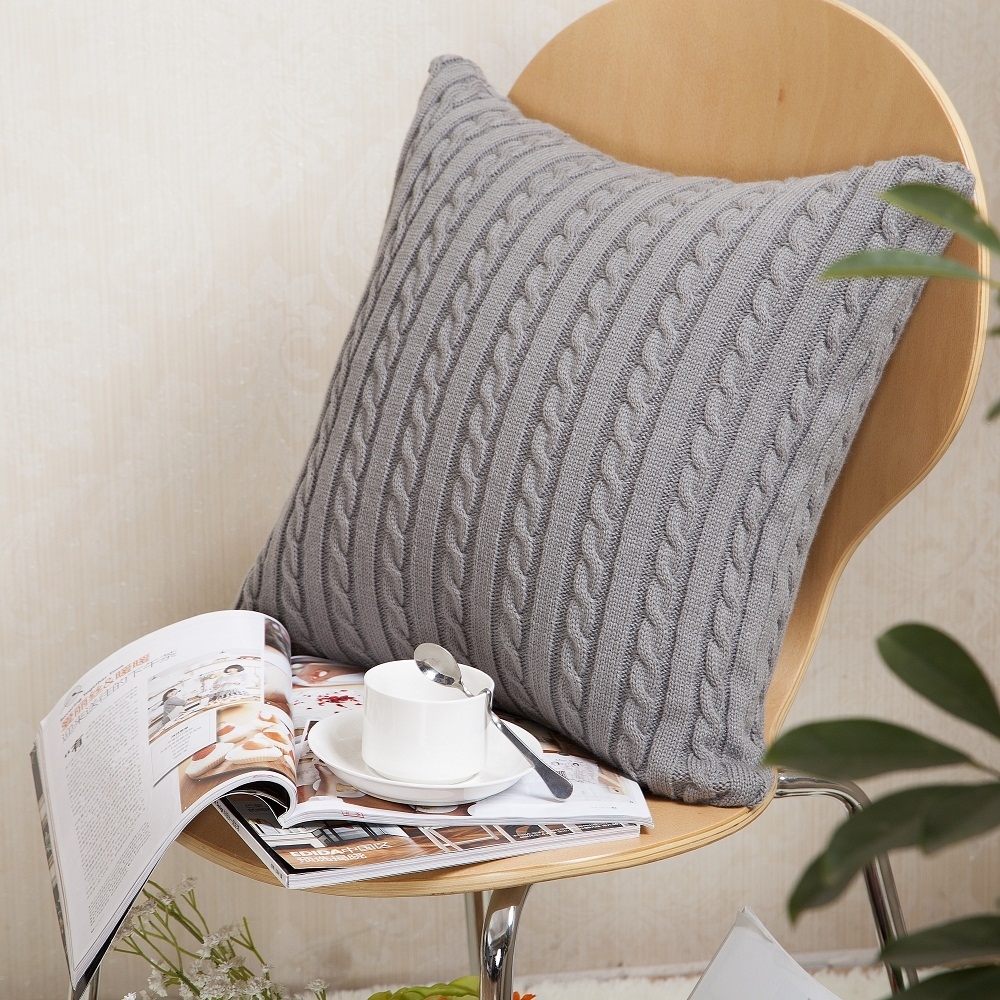 Modern Minimalism Cushion Covers Sided Woolen Decorative Pillow ...