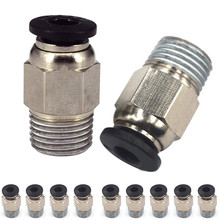 Mayitr 5/10pcs Push In Quick Release Fitting Connector 3D Printer Tube Connectors For V6 PC4-M10 Straight