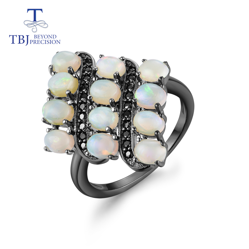TBJ 2019 new natural opal ring 925 sterling silver fine jewelry for women wife anniversary best