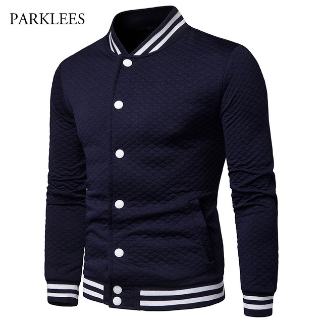 bddd6afc4d US $20.39 49% OFF|Aliexpress.com : Buy Plaid Jacket Men 2019 Brand Striped  Stand Collar Button Cotton Baseball Mens Jackets And Coats Casual ...