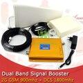 CONJUNTO COMPLETO LCD Amplificador de Alta Ganancia de Doble Banda De Telefonía móvil 2G 4G Amplificador de Señal GSM 900 mhz DCS 1800 mhz Repetidor de Señal amplificador